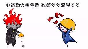 """中国北方地区7个省市""""煤改电""""电价补贴政策一览表。"""